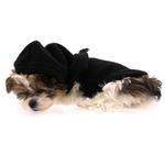View Image 5 of Fleece Vest Hoodie Dog Harness by Gooby - Black