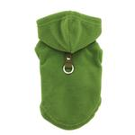 View Image 1 of Fleece Vest Hoodie Dog Harness by Gooby - Green