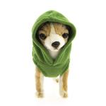 View Image 4 of Fleece Vest Hoodie Dog Harness by Gooby - Green
