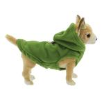 View Image 3 of Fleece Vest Hoodie Dog Harness by Gooby - Green