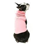 View Image 1 of Fleece Vest Hoodie Dog Harness by Gooby - Pink