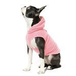 View Image 2 of Fleece Vest Hoodie Dog Harness by Gooby - Pink