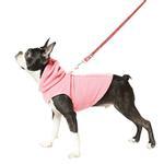 View Image 3 of Fleece Vest Hoodie Dog Harness by Gooby - Pink