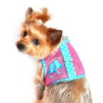 View Image 1 of Flip Flop Mesh Dog Harness by Doggie Design - Pink and Ocean Blue