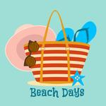 View Image 2 of Beach Days Dog Shirt - Teal