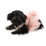 View Image 3 of Floral Pet Dress by Pawpatu - Peach