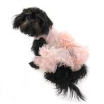 View Image 4 of Floral Pet Dress by Pawpatu - Peach