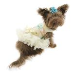 View Image 3 of Floral Sequin Pet Dress by Pawpatu - Cream