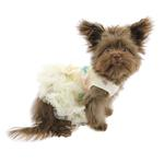 View Image 4 of Floral Sequin Pet Dress by Pawpatu - Cream