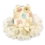 View Image 1 of Floral Sequin Pet Dress by Pawpatu - Cream