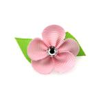 View Image 1 of Flower Dog Bow with Alligator Clip - Pearl Pink