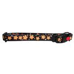 View Image 1 of Flower Dog Collar by Cha-Cha Couture - Black