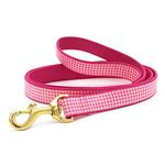 View Image 1 of Pink Gingham Dog Leash by Up Country