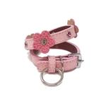 View Image 1 of Flower and Gem Dog Collar by Cha Cha Couture - Pink