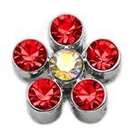 View Image 1 of Flower Slider Dog Collar Charm - Red
