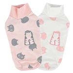 View Image 3 of Boo Turtleneck Cat Shirt by Catspia - Pink