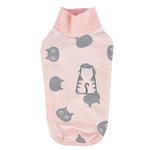 View Image 1 of Boo Turtleneck Cat Shirt by Catspia - Pink