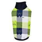 View Image 1 of Fonzie Turtleneck Cat Shirt by Catspia - Navy