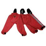 View Image 1 of foufou Dog Bodyguard Dog Pants - Red