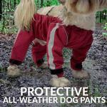 View Image 2 of foufou Dog Bodyguard Dog Pants - Red