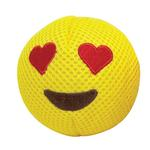 View Image 1 of foufou Dog Emoji Ball Dog Toy - Love