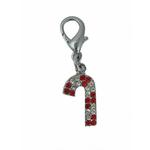 View Image 1 of Foxy Glitz Candy Cane Charm by Cha-Cha Couture