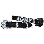 View Image 1 of Foxy Glitz Dog Collar With Letter Strap by Cha-Cha Couture - Black