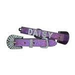 View Image 1 of Foxy Glitz Dog Collar with Letter Strap by Cha-Cha Couture - Lilac