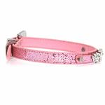 View Image 3 of Foxy Glitz Dog Collar with Letter Strap by Cha-Cha Couture - Pink
