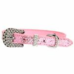 View Image 2 of Foxy Glitz Dog Collar with Letter Strap by Cha-Cha Couture - Pink
