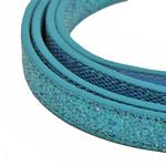 View Image 2 of Foxy Glitz Dog Leash by Cha-Cha Couture - Blue