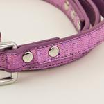 View Image 2 of Foxy Glitz Dog Leash by Cha-Cha Couture - Lilac