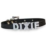 View Image 1 of Foxy Glitz Slide Dog Collar by Cha-Cha Couture - Black