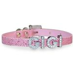 View Image 1 of Foxy Glitz Slide Dog Collar by Cha-Cha Couture - Pink