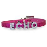 View Image 1 of Foxy Glitz Slide Dog Collar by Cha-Cha Couture - Hot Pink