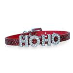 View Image 1 of Foxy Glitz Slide Dog Collar by Cha-Cha Couture - Red