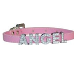 View Image 1 of Foxy Matte Slide Dog Collar - Pink
