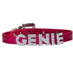 View Image 1 of Foxy Metallic Slide Dog Collar - Hot Pink