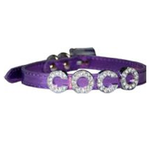 View Image 3 of Foxy Metallic Slide Dog Collar - Lilac