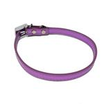 View Image 2 of Foxy Metallic Slide Dog Collar - Lilac