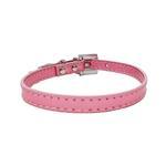 View Image 2 of Foxy Metallic Slide Dog Collar - Pink