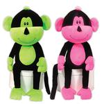 View Image 1 of Frick n Frack Two Furrs Dog Toy - Neon Monkeys