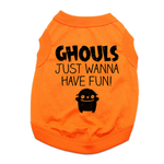 View Image 1 of Ghouls Just Wanna Have Fun Dog Shirt - Orange