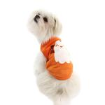 View Image 3 of Friendly Boo Ghost Dog Shirt - Orange