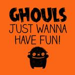 View Image 2 of Ghouls Just Wanna Have Fun Dog Shirt - Orange