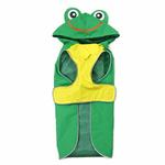 View Image 1 of Frog Dog Raincoat by Dogo - Green