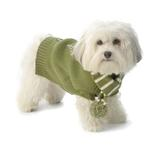 View Image 2 of Frosty's Snowflake Dog Scarf - Sage Green