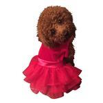 View Image 1 of Fufu Tutu Holiday Party Girl Dog Dress - Red Velvet