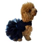 View Image 1 of Fufu Tutu Lace Dog Dress - Black