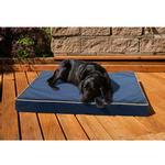View Image 2 of FurHaven Deluxe Indoor/Outdoor Solid Orthopedic Pet Bed - Blue